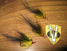 3 V Fly Size 9 Gold Salar Ultimate Royal Tosh Piglet Double Salmon Flies