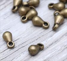 40 x bronze Metall Perlen 7 x 4 x 4 mm ms552