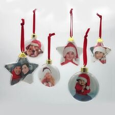 Small Photo Picture Frame Merry Christmas Eve Tree Hanging Photo Frame Pendants