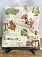 Lambs & Ivy-Fitted Baby Crib Sheet-ECHO Collection-Woodland Animals-Earth Tones