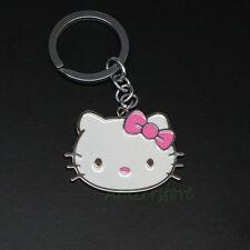 Cute Metal Bag Pendant Hello Kitty Keyring Keychain Kids Gift Lovely