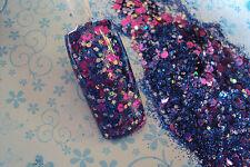 glitter mix acrylic gel nail art           STEPHANIE