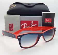 Ray-Ban Sunglasses RB 2132 NEW WAYFARER 789/3F 52-18 Blue on Orange w/Blue Shade
