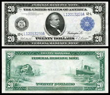 NICE CRISP UNC.1914 $20 FEDERAL RESERVE NOTE COPY READ DESCRIPTION