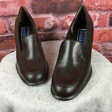 Bakers Women's Sz 10 Brown Leather Block Heel Loafers