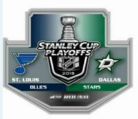2019 NHL PLAYOFFS PIN 2ND ROUND DUEL ST. LOUIS BLUES DALLAS STARS PUCK STYLE