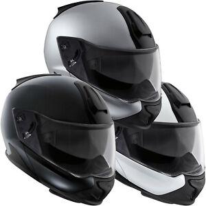 BMW System 7 Carbon Full Face / Jet Motorcycle Crash Helmet White Silver Black