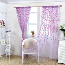 Wicker Window Curtain Tulle Voile Drape Panel Sheer Scarf Valances .*