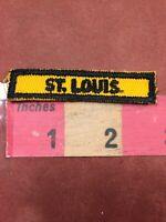 Vintage Missouri ST. LOUIS Tab Patch C91M