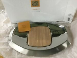 YAMAZAKI SIGNATURE COLLECTION CHEESE TRAY 18/10 STAINLESS STEEL $157.00 RETAIL
