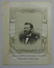 Lieutenant General Grant's Grand March Mack 1860 Civil War Music Sinclair Litho