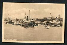 C1918 View of Ships & Boats, Calcutta (Kolkata), India