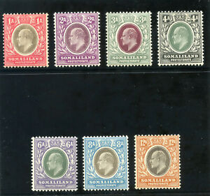 Somaliland 1905 KEVII set complete (chalky paper) very fine used. SG 46a-53a.
