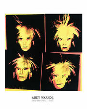 ANDY WARHOL - Self-Portrait, 1986 - POP ART PRINT Offset Lithograph Poster 16x20