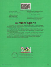 #0015 33c Summer Sports Stamp #3397 Souvenir Page