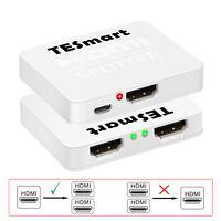 TESmart 4K@60Hz 1x2 HDMI Splitter Box HDMI Amplifier Support 3D 1 In 2 Out