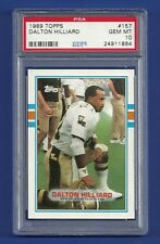1989 TOPPS #157 DALTON HILLIARD PSA 10 GEM MINT POP 4 NEW ORLEANS SAINTS