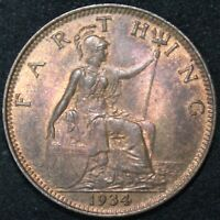 1934 | George V Farthing | Coins | KM Coins