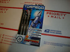 Darts Harrows Torpedo 70% Tungsten 23 gram Steel Tip Case HI-Tech Barrels game