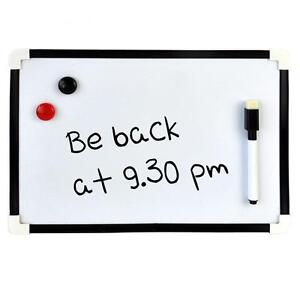 ORIGINAL A4 SMALL MAGNETIC WHITEBOARD MINI OFFICE NOTICE MEMO DRYWIPE AND ERASER