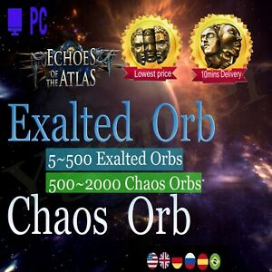POE Exalted Orb Ritual League Softcore Path of Exile Ex Chaos Orb PC Exalt  Orbs