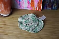 Vintage Mint Green Hand Crocheted Dollies Pot Holder Hot Pad