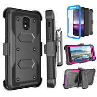 For Samsung J7 2018 Phone Case Hybrid Belt Clip Holster Kickstand Armor Cover