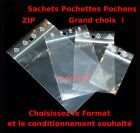 Lot de Sachets plastique fermeture pression ZIP Transparent Pochettes pochon bag