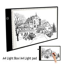 A4 LED Drawing Board Tracing Light Box Tattoo Art UltraThin Lightbox Pad White