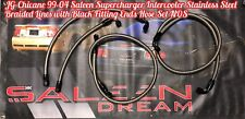 99-04 SALEEN SUPERCHARGED STAINLESS S BRAIDED INTERCOOLER HOSE SET MUSTANG FORD