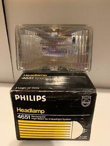 New Philips H4651BV BlueVision Halogen Headlamp C6 12V 50W High Beam for Mustang