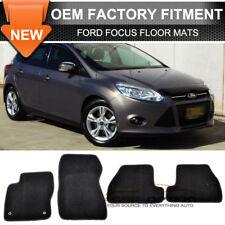 Fits 11-15 Ford Focus 2Dr 4Dr Floor Mats Carpet Front & Rear Nylon Black 4PC