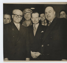 Canada, G. Gronchi, R. Pinard & L. Massey  Vintage silver print Tirage argenti