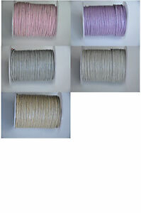 100% Real Round Leather Cord - 1,1.5,2,3,4,5 MM PASTEL COL. String Lace Thong HQ