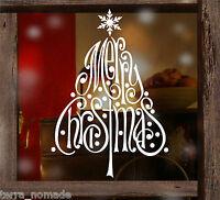 Merry Christmas Snowflake Tree Window Wall Stickers decorations Xmas. Shop,