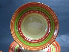"""Set of 2 Pier 1 Imports VIA 9"""" Soup Salad Pasta Bowl Hand Made Painted Portugal"""