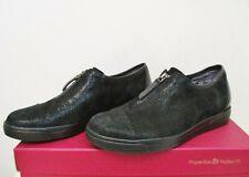 MUNRO ROSLYN Zip Sneaker Comfort  Shoe BLACK SUEDE 6.5US Wide NWB $215 MSRP
