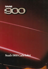 SAAB 900 CABRIOLET BROCHURE, REF.225052, INT-ENG, 1986.