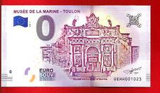 TOULON MUSÉE MARINE BILLET EURO SOUVENIR 2018  BANKNOTE EURO SCHEIN MONEY