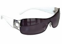 Sonnenbrille Damenbrille Weiße Brille Monoglas Sportlicher Style für Damen M 34