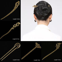 Retro Hair Clip Hair Stick Metal Hairpin Jewelry Headwear Kimono Hanfu Cosplay