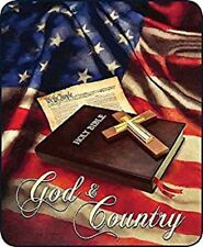 """GOD & COUNTRY HOLY BIBLE QUEEN SIZE 79"""" X 96"""" SOFT MEDIUM WEIGHT BED BLANKET"""