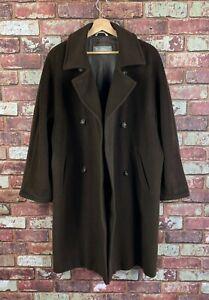Max Mara Wool Double Breasted Oversized Womens Coat UK 10  J226