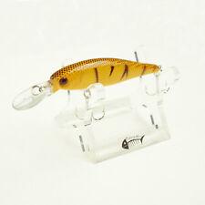 1PC 10cm/10g Floating Bass Crankbait 3D Eye Tackle Minnow Fishing Lure 2Hooks B