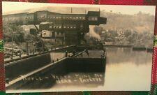Old Vesta Coal Mine #4 Tipple & River Barges Fayette City PA. Postcard Repo