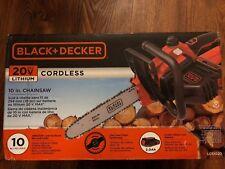 "BLACK DECKER Electric Chainsaw CORDLESS Chain Saw Garden Lawn Hand Tool Cut 10"""