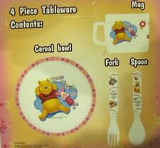 Winnie the Pooh Mealtime Dinnerware Set Includes Bowl,Mug, & Flatware-New in Box