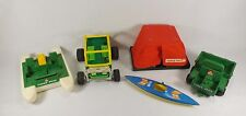 Vintage Fisher Price Adventure Series 1970's Lot Dune Buggy Pontoon Boat Tent ++