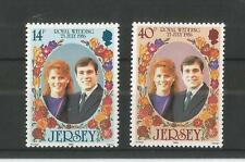 JERSEY 1986 ROYAL WEDDING SG,395-396 UM/M N/H LOT R45