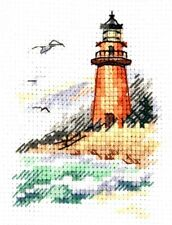 Counted Cross Stitch Kit ALISA 0-225 - the coast of the cold sea. Lighthouse